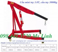 Cẩu tay mini 3 tấn - Cẩu thủy lực bằng tay 3000kg - Cẩu mini bằng tay 3 tấn - Cẩ