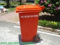 thùng rác 240 lít để ngoài trời, thùng rác nhựa giá rẻ nhất thị trường
