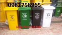 Thùng rác y tế màu vàng, thùng rác y tế giá rẻ, thùng rác bệnh viện mới