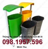 Thùng rác 240l, 120l, thùng rác nhựa Composite, thùng rác công cộng giá rẻ