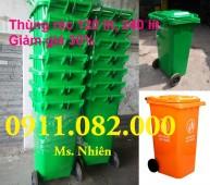 Phân phối thùng rác công cộng, thùng rác y tế giá sỉ- thùng rác 120 lít giá rẻ