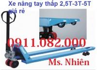 PP xe nâng tay siêu thấp 2,5 tấn 3 tấn 5 tấn giá rẻ đồng tháp