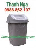 thùng rác nhựa 70 lít thùng rác nhựa công nghiệp