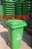 Thùng rác nhựa HDPE, thùng đựng rác 120 lít, thùng rác công cộng, thùng rác rẻ