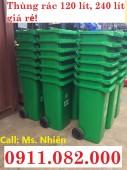 PP thùng đựng rác, thùng rác 120 lít, 240 lít, 660 giá rẻ cần thơ