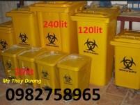 Thùng rác y tế màu xanh, thùng rác y tế màu vàng, thùng rác 120 lít