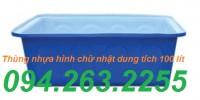 Thùng nhựa 500l có nắp đậy, thùng nhựa tròn 2000l, bồn nuôi cá