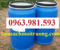 Thùng phuy nhựa 220 lít, thùng phuy làm bè, thùng phuy đựng hóa chất giá rẻ.