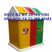 Thùng rác 3 ngăn, thùng rác giá rẻ lh 0977828326 ms thu