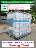 Tank nhựa 1000 lít, Tank nhựa đựng hóa chất giá rẻ