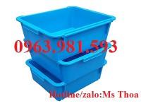 Thùng Nhựa Đặc Có Nắp Đậy, Thùng Đựng Đồ Cơ Khí, Hộp Nhựa Công Nghiệp Giá Rẻ.