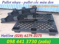 Pallet cốc - pallet nhựa 9 chân 1200x1000x140mm giảm giá tại kho bình tân Hotl