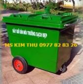 thùng rác 660l, xe gom rác hotline:0977828326