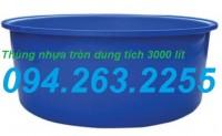 Thùng nhựa dung tích lớn, thùng nhựa tròn 3000 lít, thùng nhựa vuông
