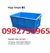 Sóng nhựa bít b5 , thùng nhựa đặc, thùng nhựa, thùng nhựa b5 rẻ