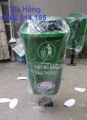Thùng rác chân cọc,thùng rác chân trụ sắt giá rẻ