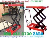 Xe nâng mặt bàn 350kg cao 1m3, xe nâng bàn 350kg, xe nâng chậu cảnh, xe nâng cây