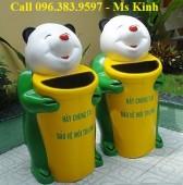 bán các loại thùng rác công cộng, thùng rác con thú vừa đẹp vừa rẻ, xe đẩy rác