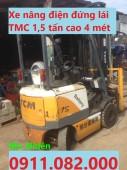 Xe nâng điện giá rẻ- xe nâng komatsu sumitomo 1,8 tấn cao 3 mét giá thấp