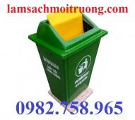 Thùng rác công cộng 90 lít, thùng rác nhựa, thùng rác nắp lệch giá rẻ