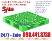 Pallet nhựa xanh lá 1200x1000x150mm