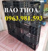 Pallet nhựa cũ mới giá rẻ Hà Nội, pallet nhựa chịu trọng tải lớn.