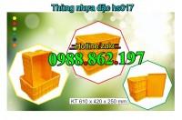 Thùng nhựa đặc hs017, thùng nhựa HS 017, thùng nhựa đặc HS017, sóng nhựa bít HS