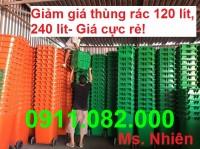 Chuyên bán thùng rác giá sỉ lẻ- thùng rác 120 lít 240 lít 660 lít giá rẻ cà mau