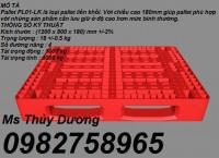 Cung cấp Pallet nhựa, Pallet lót sàn, Pallet nhựa liền khối giá rẻ