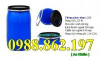 Thùng phuy cũ 220L, thùng phuy nhựa 4 đai, thùng phuy nhựa giá rẻ,
