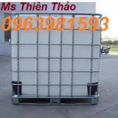 Bán tank đựng hóa chất, tank IBC 1000 lít, thùng nhựa 1 khối giá rẻ