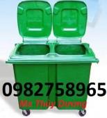Thùng rác công cộng, thùng rác 120l, thùng rác Composite