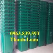 Thùng đựng rác 120L, thùng rác công cộng giá rẻ - 0963.839.593 Thanh Loan