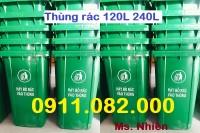 Cung cấp thùng rác số lượng lớn giá rẻ toàn quốc- Thùng rác 120L 240L 660L- lh 0