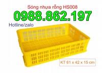 Thùng nhựa rỗng hs008,sóng nhựa hở HS008, sóng nhựa HS 008, sóng nhựa rỗng HS008