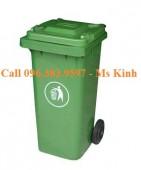 giá thùng rác 240 lít dùng nơi công cộng, thung rac 240l
