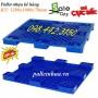 Pallet nhựa kê hàng, pallet nhựa cao 78mm, pallet 1200x1000x78mm giảm giá sốc