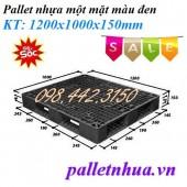 Thanh lý giá sốc pallet nhựa 1200x1000x150mm màu đen call 0984423150 – Huyền