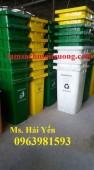 Thùng rác 120 lít, thùng rác y tế giá rẻ, thùng rác nhựa HDPE mới
