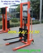 Giảm giá cực sốc xe nâng tay cao 1600mm tải trọng 500kg liên hệ ngay 0984423150