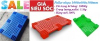 Pallet nhựa kê hàng, pallet nhựa 1000x600x100mm giá siêu rẻ call 0984423150