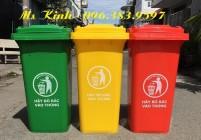 bán thùng rác giá rẻ công khu công nghiệp, thùng rác nhựa có bánh xe giảm giá 30