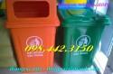 Thùng rác 90 lít, thùng rác 90l nhựa hdpe, thùng rác 90l nắp kín, thùng rác 90l