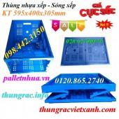 Giảm giá cực sốc thùng nhựa xếp, thùng nhựa gập, sóng xếp, sóng nhựa xếp