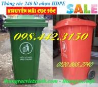 Thùng rác 240 lít nhựa hdpe giá siêu rẻ, giảm giá sốc call 0984423150 – Huyền