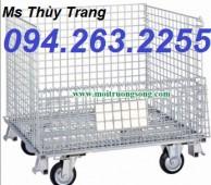 Lồng thép đựng hàng, lồng trữ hàng, xe chuyển hàng hóa giá rẻ