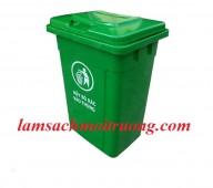 Bán thùng rác nhựa công nghiệp, thùng rác treo đôi, thùng đựng rác 90l