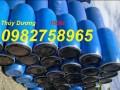 Bán thùng phuy nhựa 220 lít, thùng phuy nắp kín giá rẻ