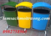 Thùng rác treo đôi 80 lít, thùng rác công cộng siêu rẻ