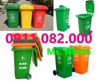 Cung cấp thùng rác nhựa hàng xuất khẩu giá rẻ- thùng rác 120 lít 240 lít 660 lít